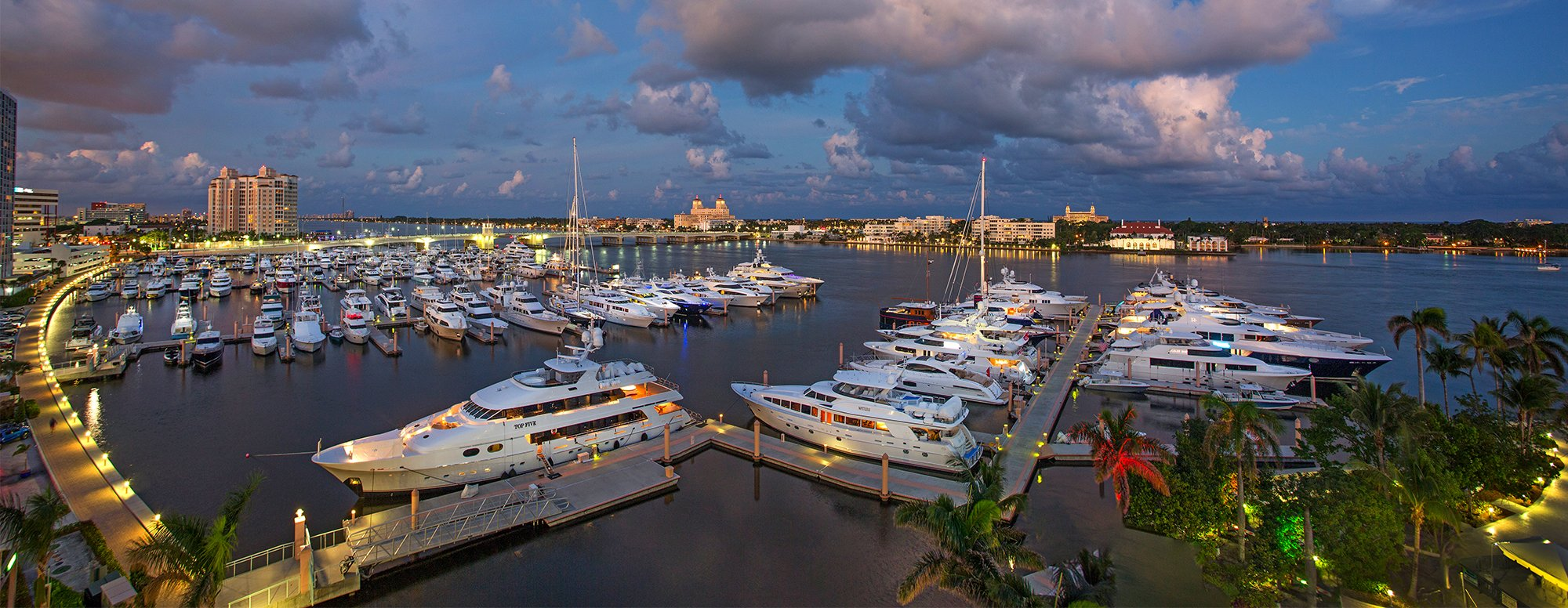 Palm Harbor Docks at sunset