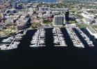 Full aerial view of marina